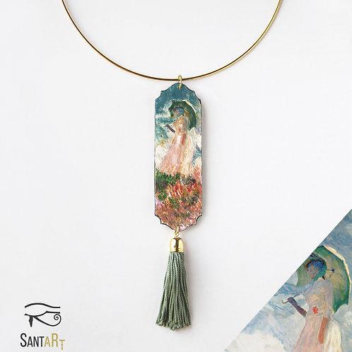 Collier Donna con parasole di Monet