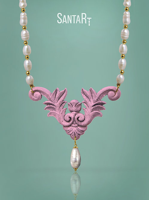 Collana Barocco rosa