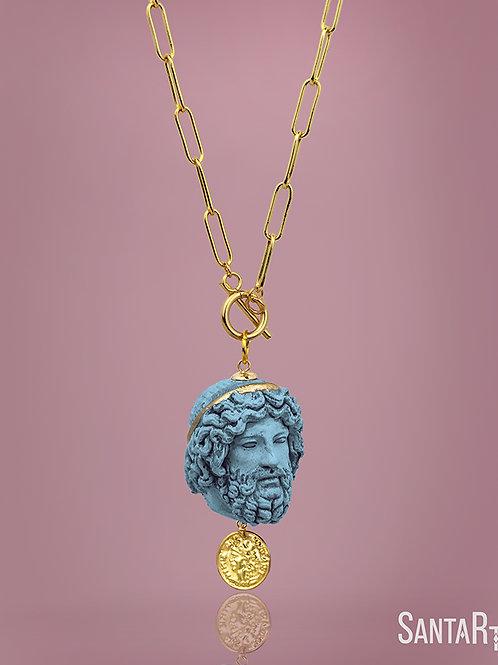 Collana Zeus turchese