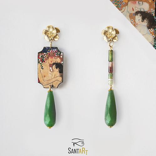 """Orecchini """"Maternità"""" di Klimt"""