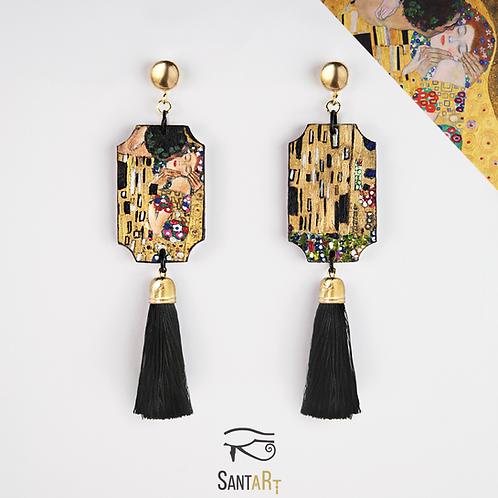 """Orecchini """"Il Bacio"""" di Klimt"""