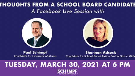 Tuesday, March 30: FB Live with Paul Schimpf