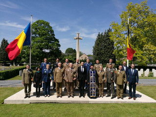 Religious and military ceremonies in the honor of the Romanian Heroes