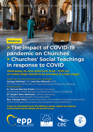 EP webinar on the impact of COVID-19 pandemic on Churches