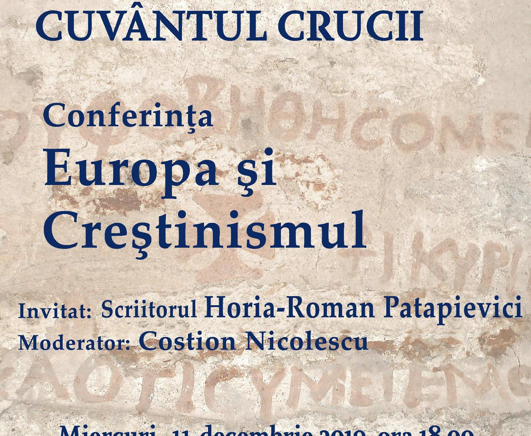 Conferinta Europa si crestinismul
