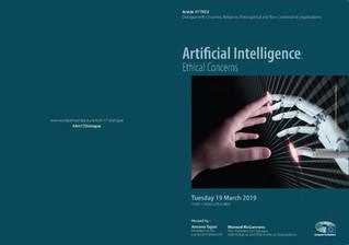 "European Parliament's Dialogue Seminar: ""Artificial Intelligence: Ethical concerns"""