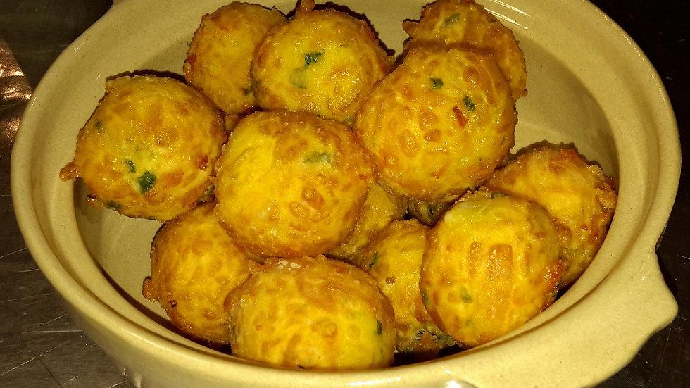 Mini cheese & chive croquettes