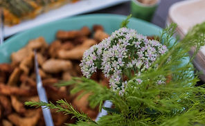 Farm fresh flowers, crispy chicken strips, function catering