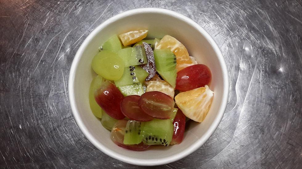 Vanilla yogurt, topped with fresh fruit-Child