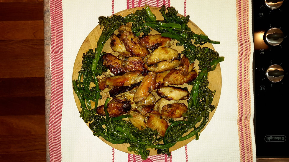 Crispy roasted chicken wings