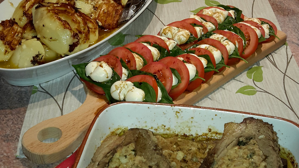 Layered Caprese salad - Adult