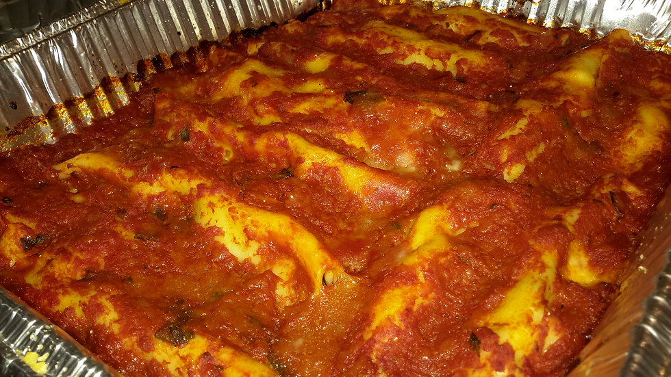 Spinach & ricotta filled cannelloni
