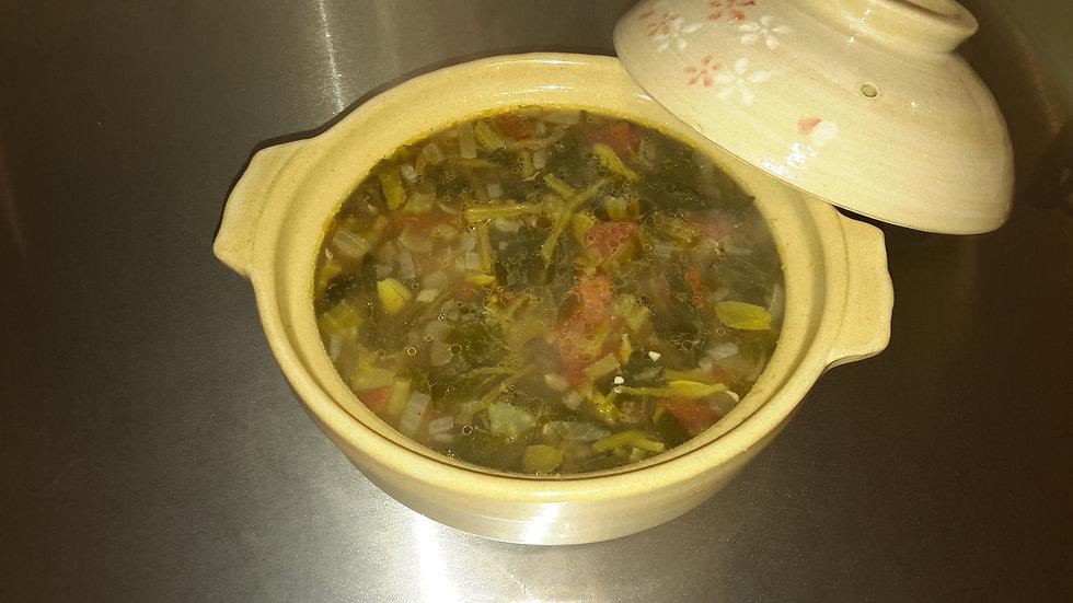 Lentil, pancetta & spinach soup - Individual portion