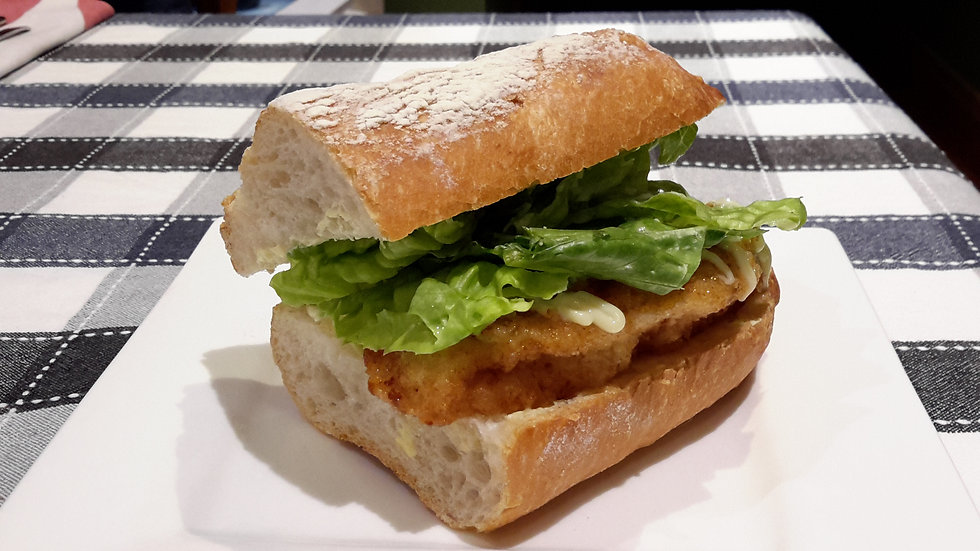 Chicken Schnitzel Burger-Child