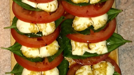 Layered Caprese salad - Child