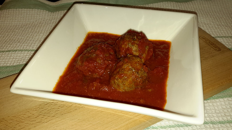 Italian meatballs, cooked in a rich tomato sauce