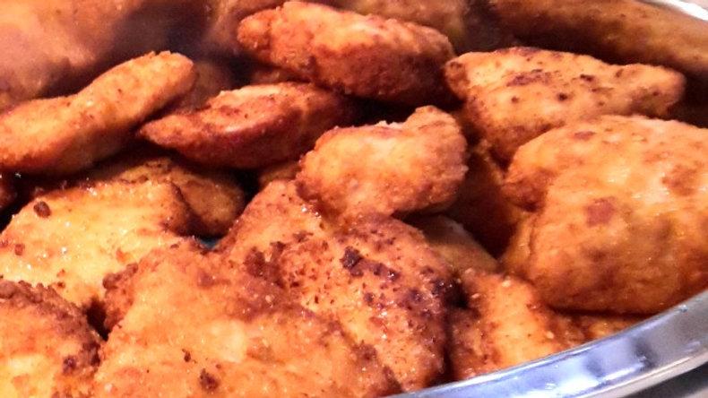 Crunchy crumbed chicken breast schnitzel