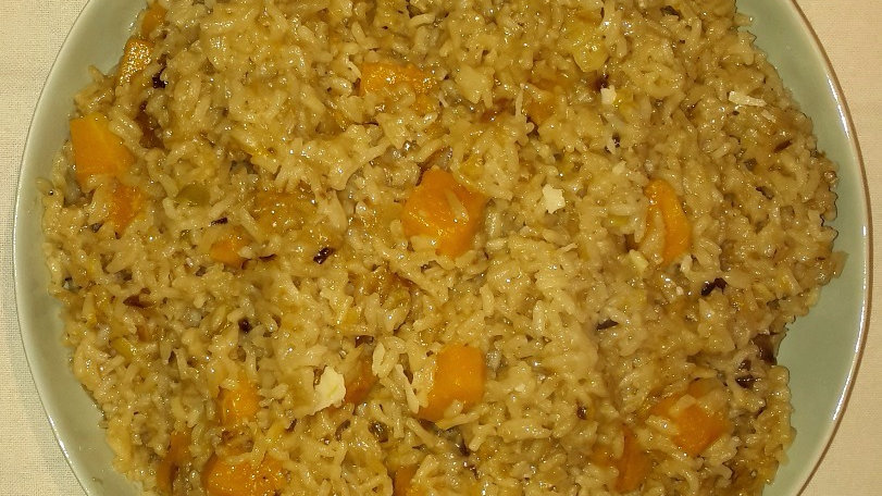 Pumpkin risotto - Family serve