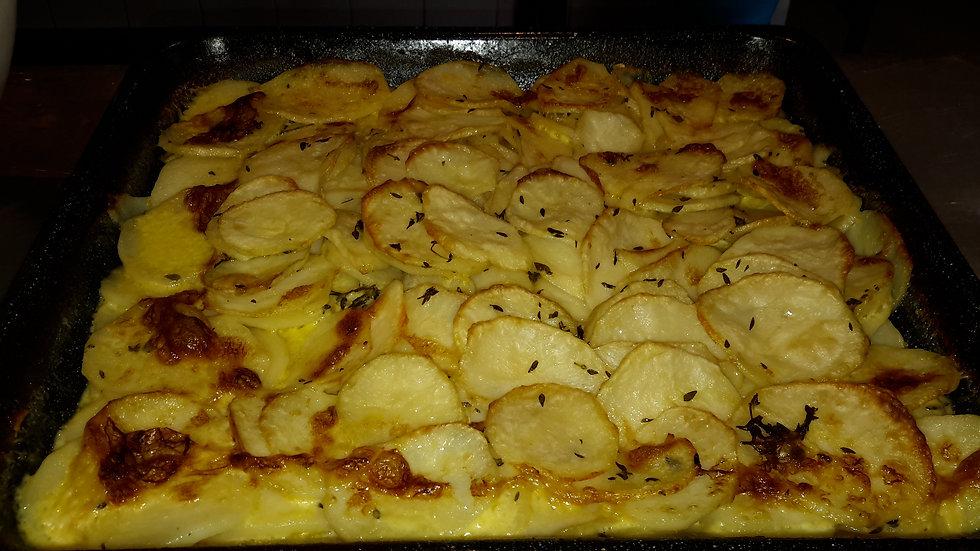 Scalloped potato bake