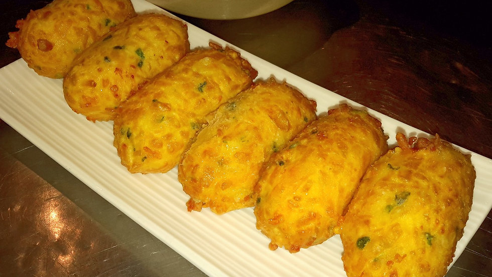 Cheese & chive croquettes