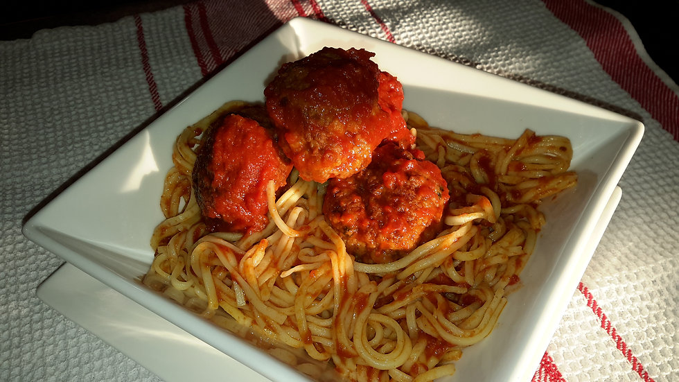Spaghetti & meatballs - Child