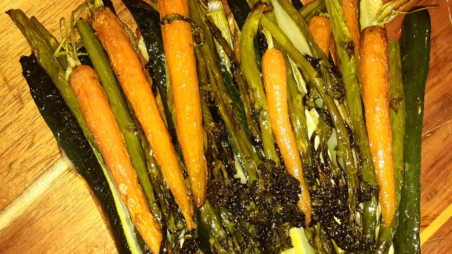 Roasted seasonal vegetables - Family serve