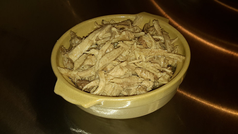 Slow cooked, pulled pork - Individual portion