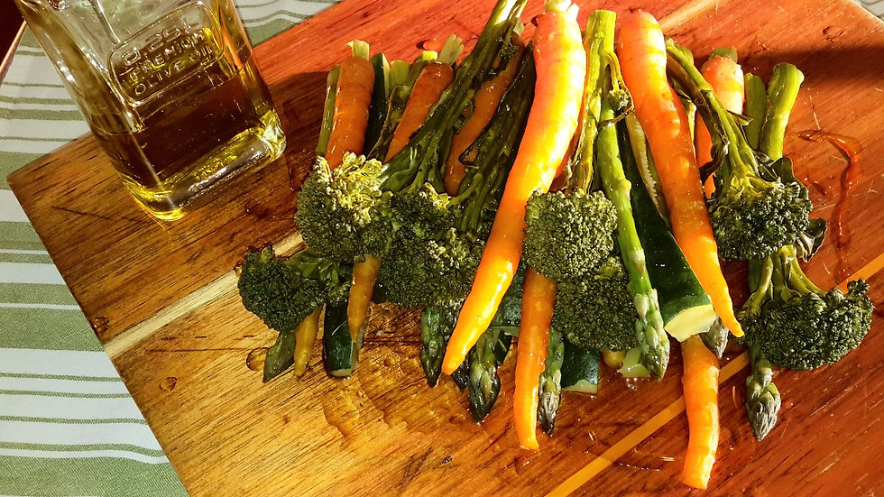 Steamed seasonal vegetables