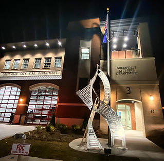 Fire station, GCFD, art, sculpture, public art, Yuri Tsuzuki