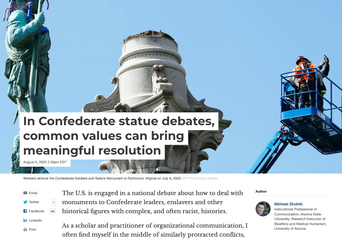 IN CONFEDERATE STATUE DEBATES...