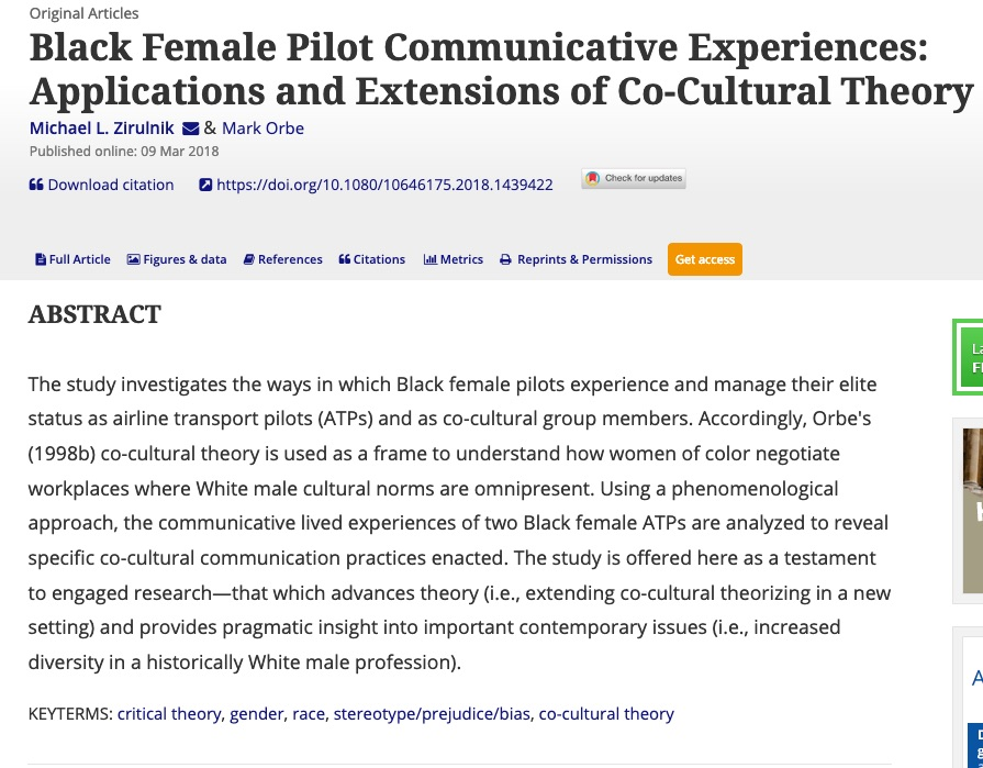 BLACK FEMALE PILOT NARRATIVES