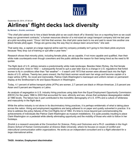 AIRLINES' FLIGHT DECKS