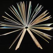 Bookbinding - Driftwood cover artist book