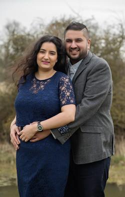 Engagement shoot at Brownsover Hall