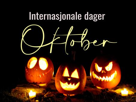🍁 Internasjonale dager for oktober