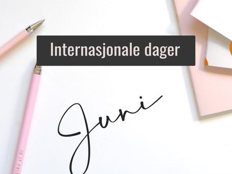 Internasjonale Dager - Juni