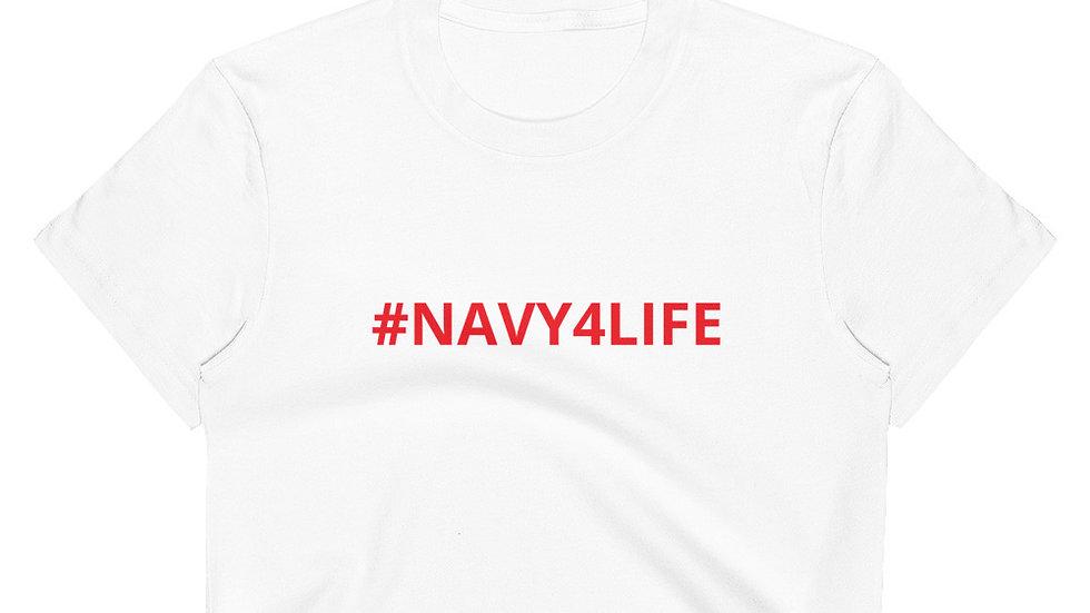 Women's Crop Top - KenYUCK #Navy4Life