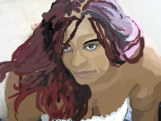 Cartoon/ Painting of my Sister