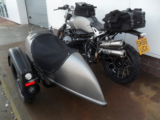 Gusto Motorbikes_BMW RnineT Scrambler Sidecar Combination