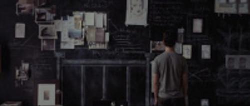 art direction : Tom's bedroom chalkboard wall 500 days of summer