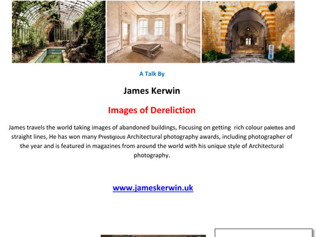 James Kerwin - Wednesday 22nd April at 7.30pm