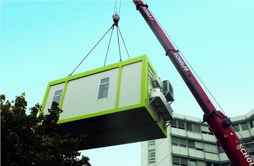 A fábrica móvel cabe em um caminhão comum o pode ser colocada em qualquer lugar.