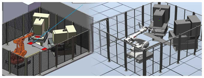 Sistema Stand Alone: o robô executa a carga e a descarga da prensa