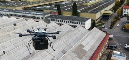 Empresa na Alemanha utilizará drones para o transporte de peças em unidades da fábrica