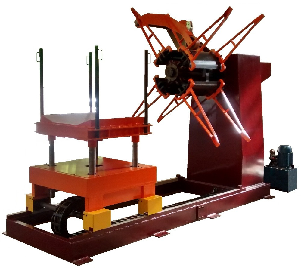 Desbobinador com elevador hidráulico