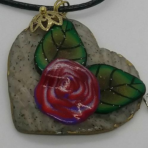 Rock & Rose Pendants