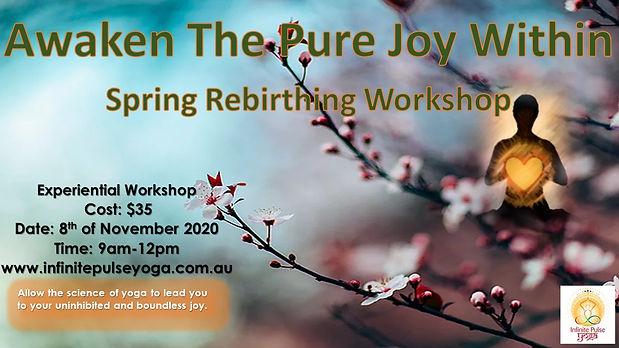 Spring clean rebirthing workshop 8th nov