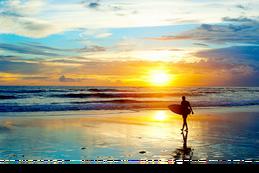 batubolong beach sunset