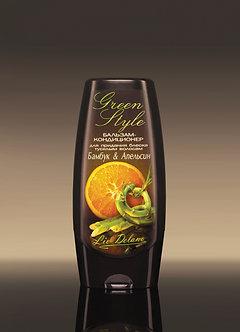 Бальзам-кондиционер «Бамбук&Апельсин» для придания блеска тусклым волосам.