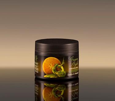 Стимулирующая маска-уход «Бамбук&Апельсин» для придания блеска тусклым волосам.